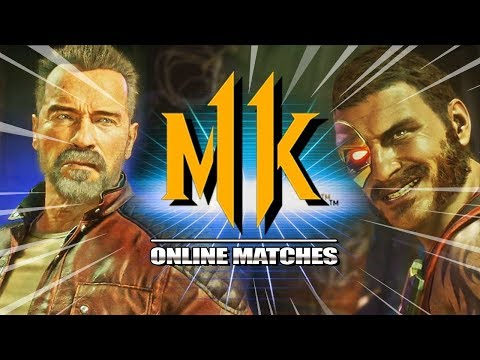 My FIRST Matches w/TERMINATOR: Mortal Kombat 11 Online