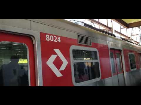 Série 8000 (S024) TUE {CAF} Partindo da estação Santo Amaro