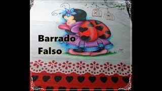 DICAS RÁPIDAS DE BARRADO FALSO - COMO PINTAR BARRADO FALSO COM STENCIL