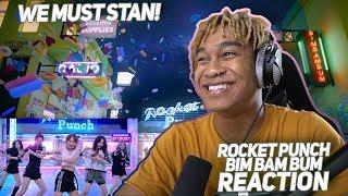 Rocket Punch(로켓펀치) '빔밤붐(BIM BAM BUM)' Official MV - REACTION