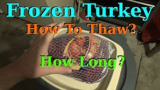 Thawing Out A Frozen Turkey Properly - How? How Long?