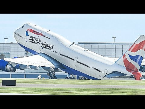 Boeing 747 Tailstrike on Takeoff - X-Plane 11