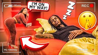 SNEAKING OUT OF THE HOUSE IN THE MIDDLE OF THE NIGHT PRANK ON BOYFRIEND!