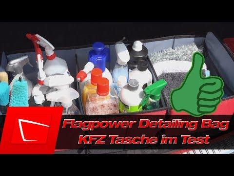 Flagpower Autopflege Tasche Detailing Bag XXL Test Kofferraumtasche faltbarer Kofferraum Organizer