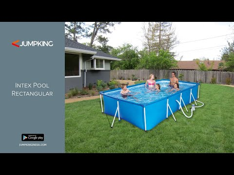 Intex Portable Prefab Above Ground Readymade Swimming Pool Rectangular
