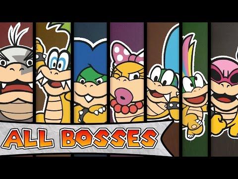 Paper Mario Color Splash - All Boss Battles