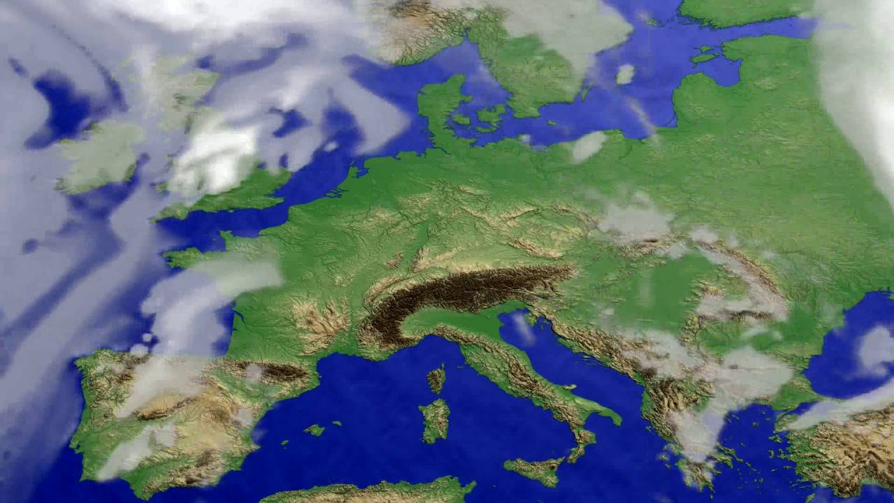 Cloud forecast Europe 2016-07-17