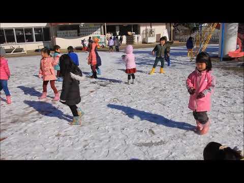 笠間 友部 ともべ幼稚園 子育て情報「雪遊び」