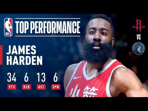 291558c1632 James Harden Drops Points (34) and Dimes (13) in Minnesota ...