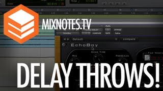 Mixing Vocals: How to Create Delay Throws in Pro Tools! Sound Toys Echo Boy