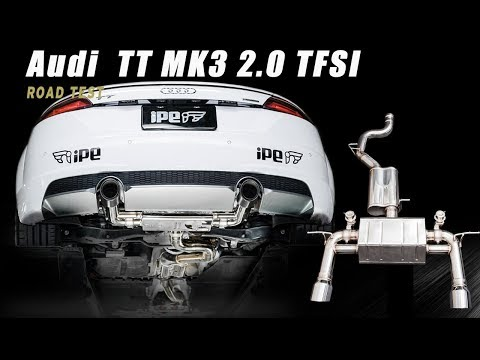 The iPE exhaust for Audi TT 2.0 MK3 TFSI