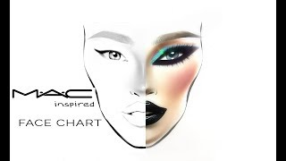 MAC FACE CHART Inspired