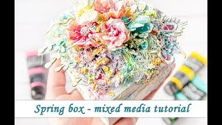 Altered Box With Texture Pastes And Impasto Paints - Mixed Media Tutorial