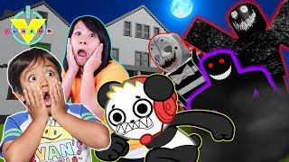 RYAN'S FAVORITE SPOOKY ROBLOX GAMES CAMPING AND AIRPLANE! Let's Play Roblox