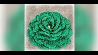 Как связать цветок крючком для начинающих. Crochet flowers