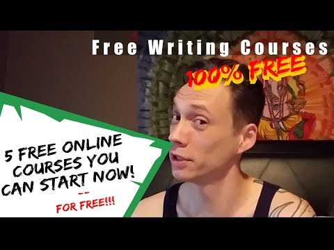 5 Free Online Writing Courses you can start today - YouTube