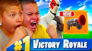 JAYDEN AND KAYLEN PLAY DUOS FOR THE FIRST TIME!! *NEW* GRAPPLER GUN! FORTNITE BATTLE ROYALE! *EPIC*