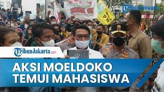 Sikap Moeldoko saat Temui Massa Aksi dari Aliansi BEM SI di Istana Merdeka Tuai Komentar Positif