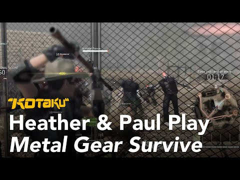 Watch Us Play Metal Gear Survive's Absurd Horde Mode