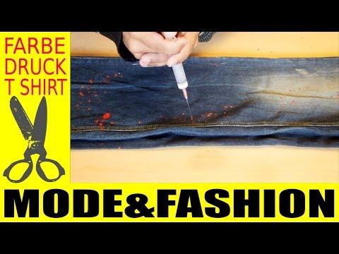 Jeans Hose selber aufpeppen !!! Farbe & Flecken Technik