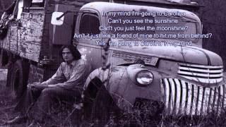 "Video thumbnail of ""Carolina In My Mind - James Taylor - Lyrics / HD"""