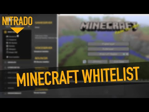 KrTube Minecraft Server Mit Whitelist Sichern Nitrado Tutorial - Nitrado minecraft server whitelist erstellen