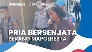 Mengaku Dengar Bisikan di Kepalanya, Pria Bersejata Mengamuk dan Rusak Pagar Mapolresta Yogyakarta