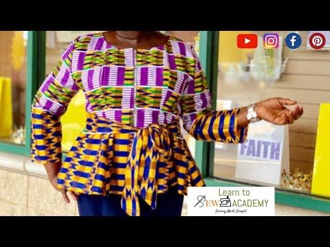 How to Make 6 Piece Blouse with no patterns - Part 2 | Cutting a Six Piece Top (DIY)