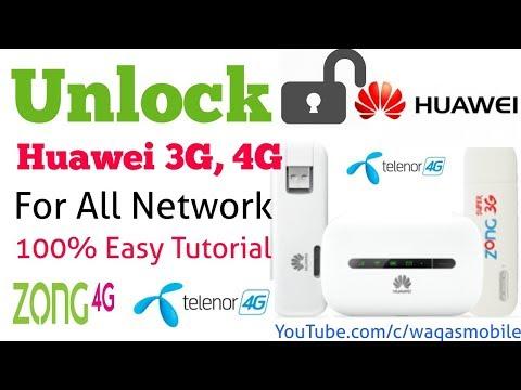 How to unlock Huawei 3G,4G Modem Teleno,Zong E5573cs-322