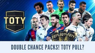 FIFA MOBILE FULL TOTY DOUBLE CHANCE PACK OPENING! FINALLY TOTY ELITE PULL DUE TO DOUBLE CHANCE??