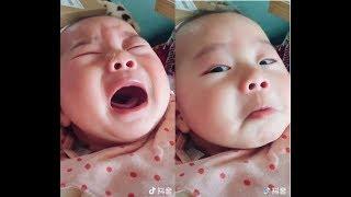 Em bé giả vờ khóc để ăn vạ - còn bé tí mà lém lỉnh quá.