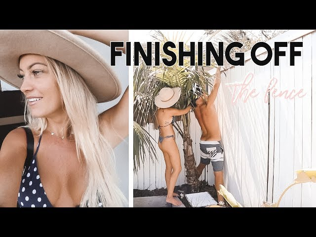 WE FINISHED THE FENCE & MILA WAS BEING NAUGHT... *AUSSIE MUM VLOGGER*
