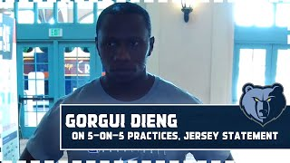 Gorgui Dieng 'surprised' at team's physical condition, high stamina