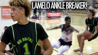 Lamelo Ball ANKLE BREAKER On Defender And BUZZER BEATER Shot Got His Team Hyped!