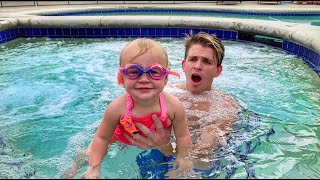 Teaching My 1 Year Old Baby How To Swim!!! *INCREDIBLE*
