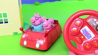 Peppa Pig Unboxing: All Toy Vehicles with Fireman George, Camper, Rocket & Ambulance for Kids