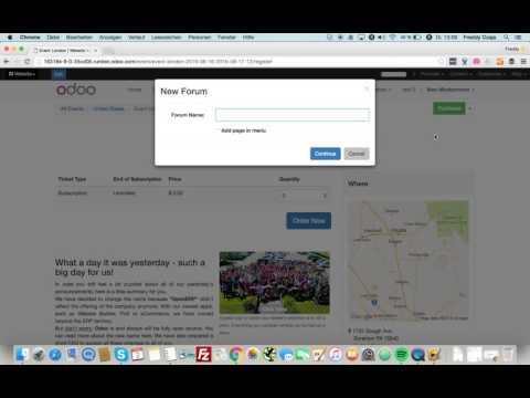 Odoo 9 Website