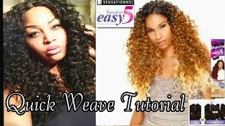 EASY 5 BRAZILIAN CURLY★QUICK WEAVE TUTORIAL