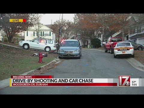 Drive-by shooting and car chase in Durham