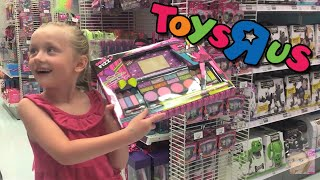 Giant Surprise Egg 1 - Barbie, Monster High, Peppa Pig, and Play Doh - Toys R Us Shopping Spree
