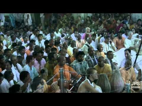 2016 H.H. Jayapataka Swami's Grand Temple A.M. Arrival on Vyasa Puja Day