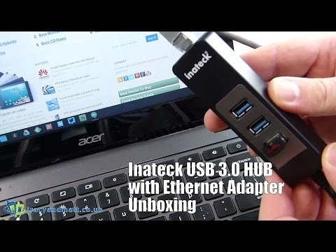 Inateck 3 Ports USB HUB Ethernet Adapter