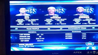 preview picture of video 'NBA 2K14 Rochester Royals/Sacramento Kings GM mode EP 1'