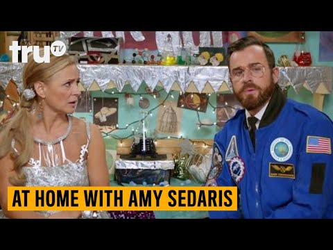 At Home with Amy Sedaris - Astronaut Relationship Jokes (ft. Justin Theroux) | truTV