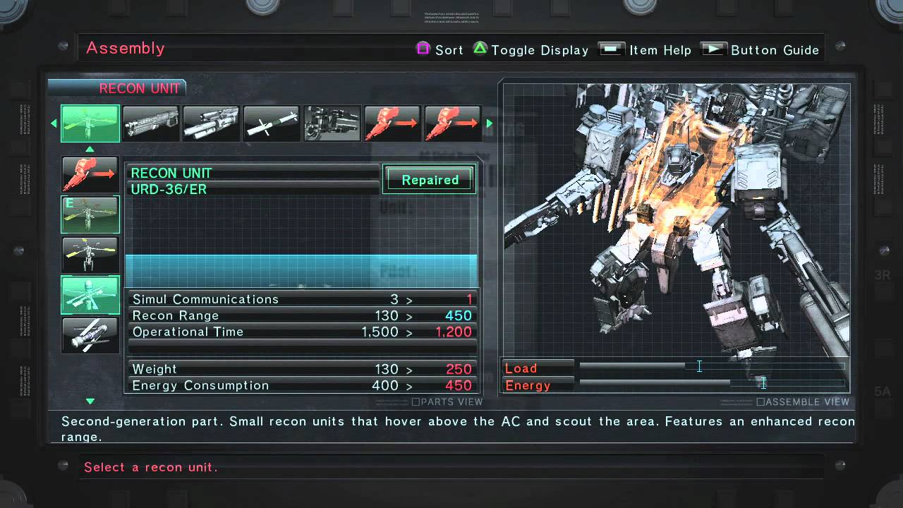 A Close-Up on ARMORED CORE V Customization and Bosses