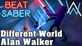 Beat Saber - Different World - Alan Walker (custom song)   FC