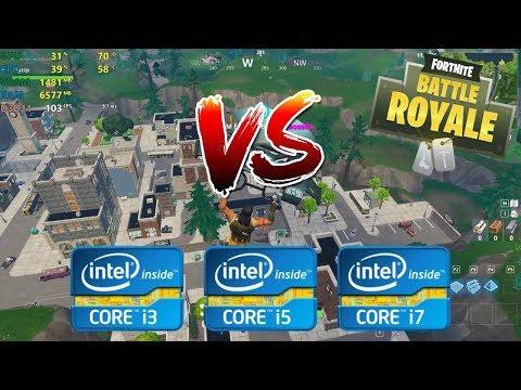 intel Core i3 vs i5 vs i7 | Fortnite Battle Royale - 1080p Competitive settings [4th gen]