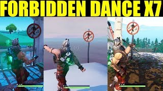 dance in different forbidden locations ALL 7 Forbidden Locations Fortnite Battle Royale (Season 7)