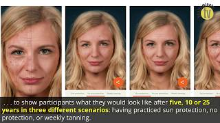 Digital face-aging app may help curb risky tanning behaviours