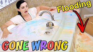 100 Bath Bomb Challenge GONE WRONG (We FLOODED Our House & Cost THOUSANDS In Damage)